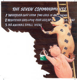 the seven commandments of animalism Animal farm study guide  seven commandments could in effect be reduced to a single maxim,  34how do animals on other farms react to animalism.