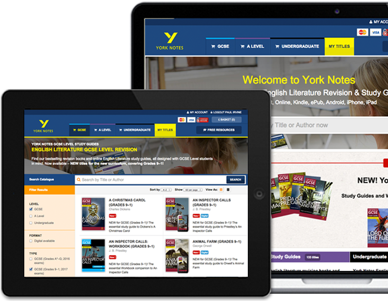 York Notes Plus interactive digital study guides