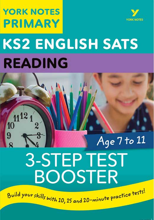 York Notes 3-Step Test Booster Reading KS2 Revision Study Guide
