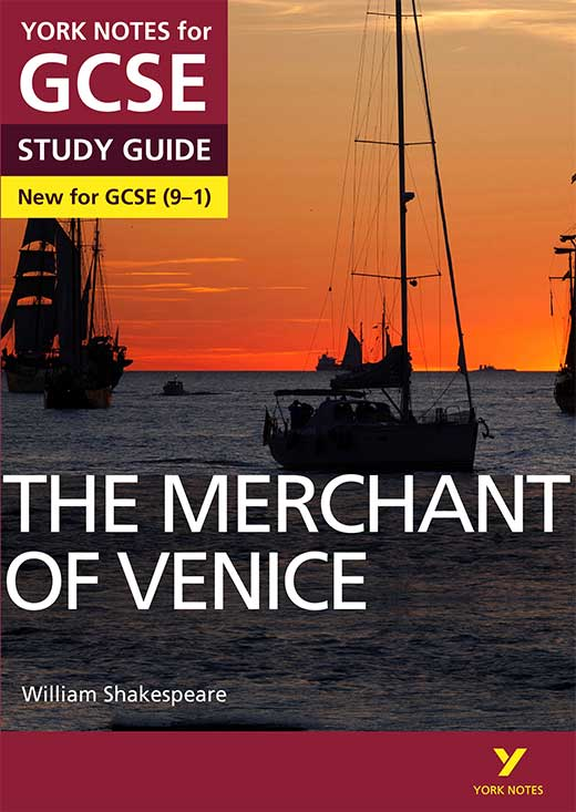 York Notes The Merchant of Venice (Grades 9–1) GCSE Book Cover