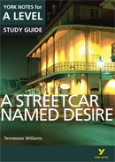 York Notes A Streetcar Named Desire: A Level A Level Book Cover