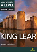 York Notes King Lear: A Level A Level Book Cover