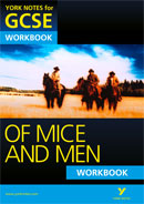 York Notes Of Mice and Men Workbook GCSE Revision Study Guide