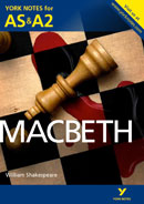 York Notes Macbeth: AS & A2 A Level Book Cover