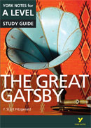 York Notes The Great Gatsby: A Level A Level Book Cover