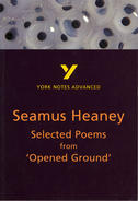 York Notes Seamus Heaney, Selected Poems from 'Opened Ground': Advanced A Level Revision Study Guide